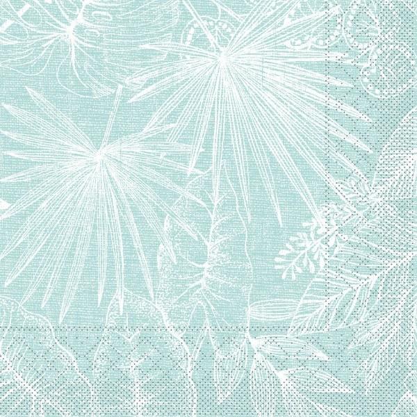 Tissue Serviette Kona in Sky, 33 x 33 cm, 100 Stück