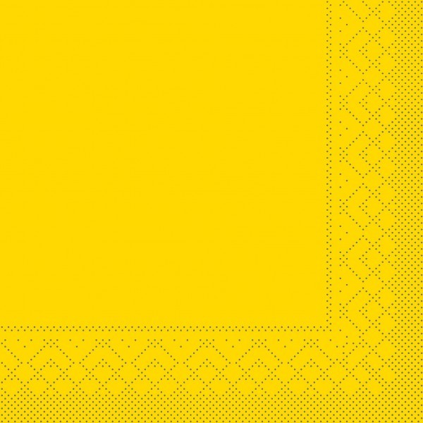 Tissue Serviette Gelb, 40 x 40 cm, 100 Stück - Mank