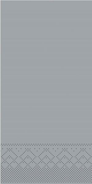 Tissue Serviette Grau, 40 x 40 cm, 1/8 Falz, 100 Stück - Mank
