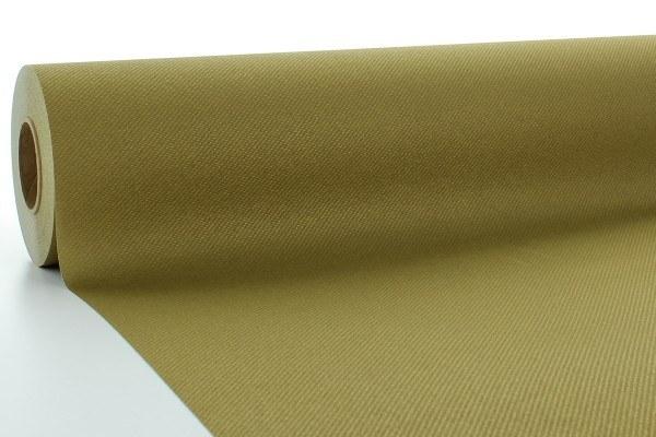 Airlaid Tischdeckenrolle Gold, 120 cm x 25 m , 1 Stück - Mank