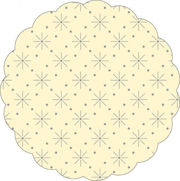 Tissue Deckchen mit Sterne - Punkte Prägung in Creme, Ø 80mm, 250 Stück - Mank