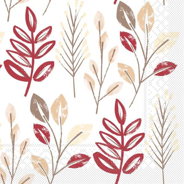 Tissue Serviette Cedrik Bordeaux-Braun, 33 x 33 cm, 100 Stück - Mank