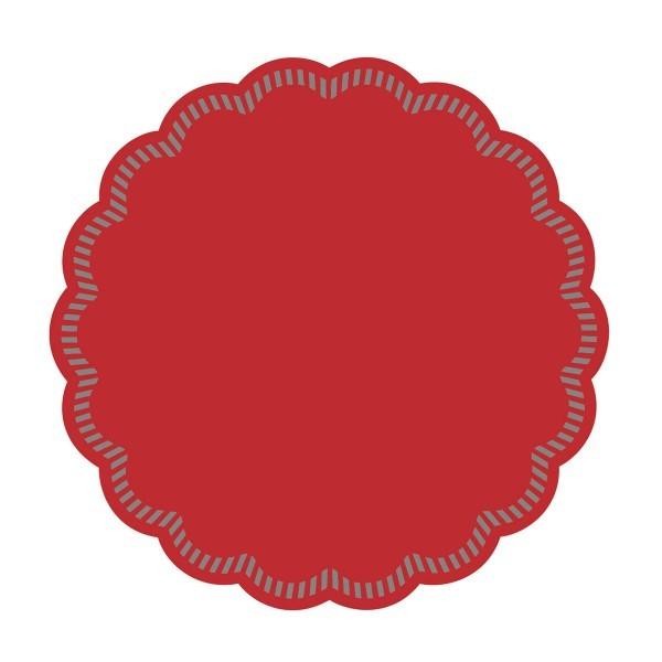 Tissue Deckchen in Rot, Ø 90 mm, 250 Stück - Mank