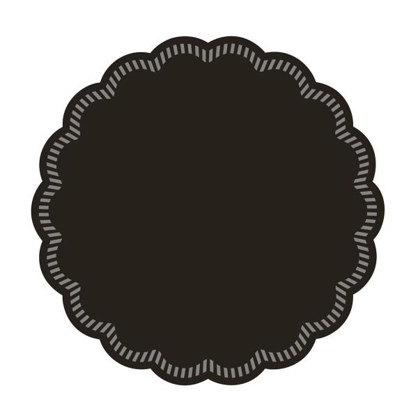 Tissue Deckchen in Schwarz, Ø 90 mm, 250 Stück - Mank