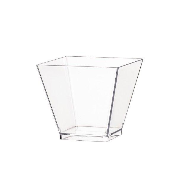 Einweg Fingerfood Glas 50ml aus Plastik, Transparent, 60 Stück - Mank