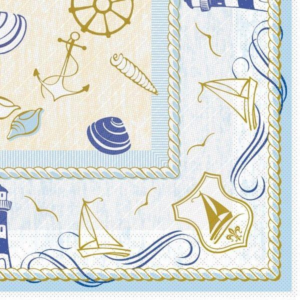 Tissue Deluxe Serviette Coast, 40 x 40 cm, 50 Stück - Mank