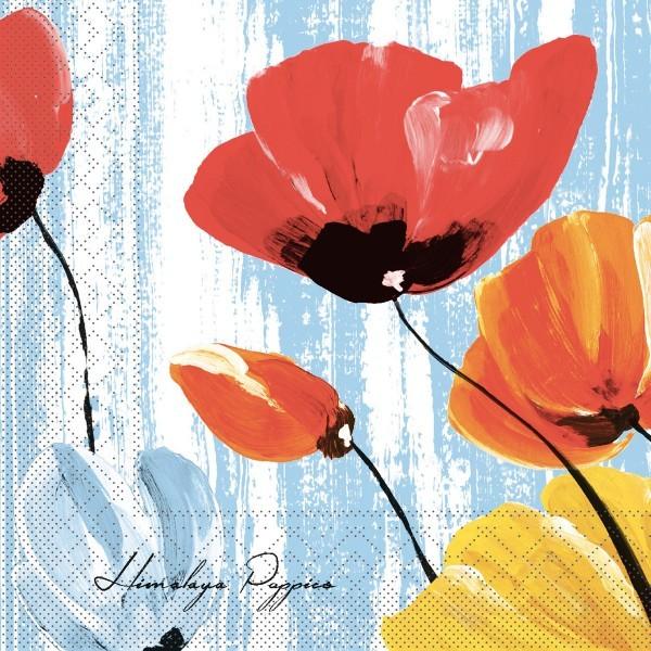 Tissue Serviette Ivonne in Blau, 40 x 40 cm, 100 Stück - Mank