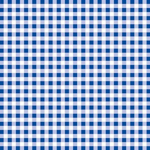 Papier Tischdecke Karo in Blau, 80 x 80 cm, 50 Stück - Mank