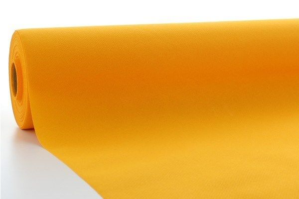 Airlaid Tischdeckenrolle Curry, 120 cm x 40 m , 1 Stück - Mank