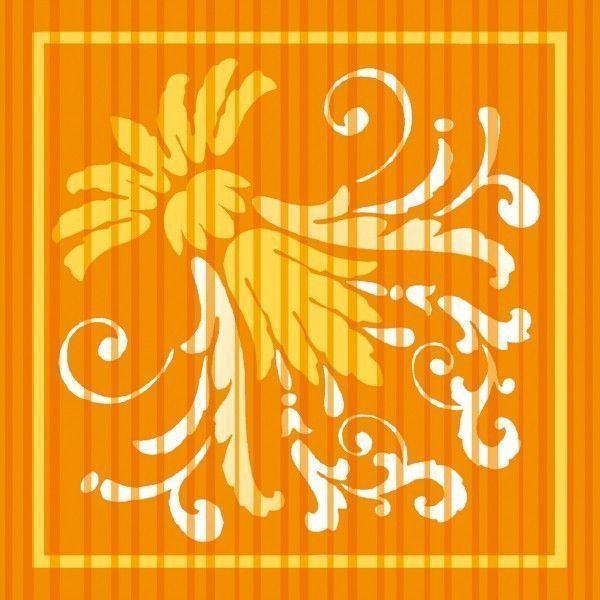 Deckchen Letizia in Curry, Tissue 9-lagig, 90 x 90mm, 250 Stück - Mank