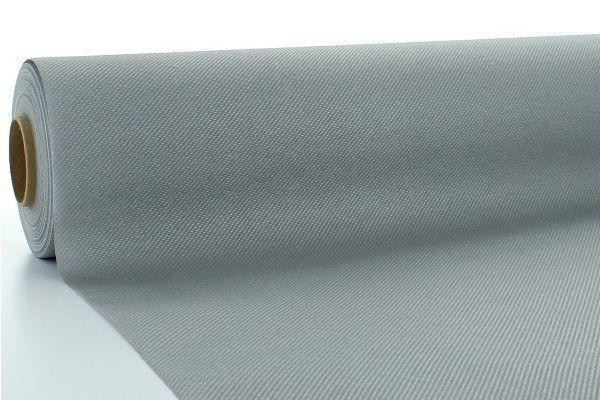 Airlaid Tischdeckenrolle Silber, 120 cm x 25 m , 1 Stück - Mank