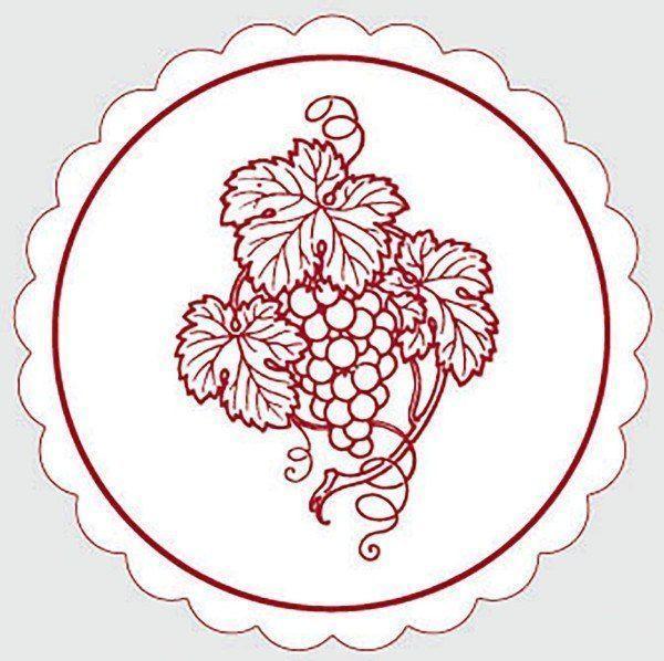 Deckchen Weinrebe in Bordeaux, Tissue mit Folienbeschichtung, 105 mm, 250 Stück - Mank