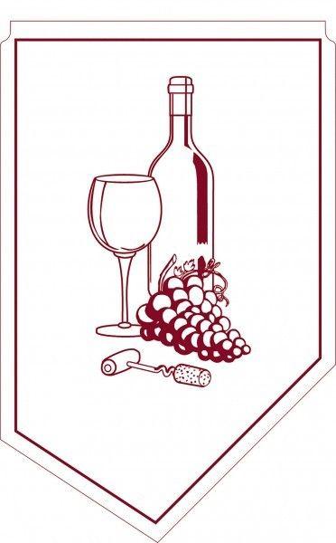 Weinmanschette aus Tissue in Bordeaux, 100x65mm, 150 Stück - Mank