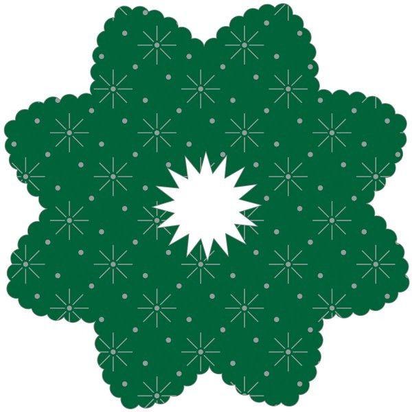 Tropfenringe aus Tissue in Grün, Ø100mm, Innenloch 22mm, 6.000 Stück - Mank