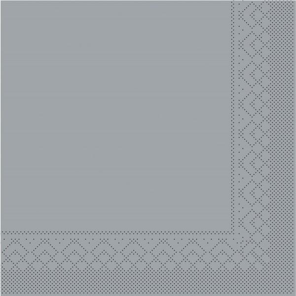 Tissue Serviette Grau, 33 x 33 cm, 100 Stück - Mank
