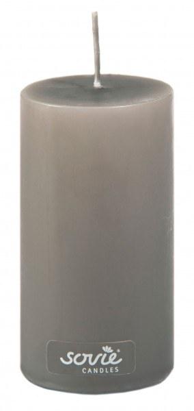 Stumpenkerze Braun, Ø50x100 mm