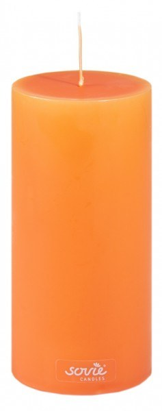 Stumpenkerze Orange, Ø70x200 mm