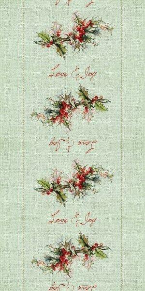Airlaid Tischläufer Love & Joy (ohne Besteck), 40 cm x 24 m , 1 Stück - Mank