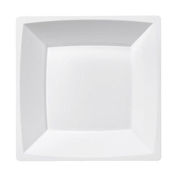 Einweg Teller MILAN tief in Weiss 17,2 x 17,2cm aus Plastik, 12 Stück - Mank