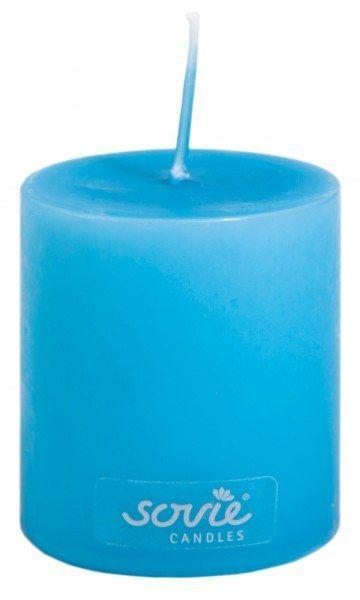 Stumpenkerze Aquablau, Ø50x60 mm - Brenndauer ca. 16 Std.