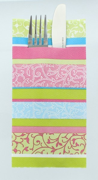 Airlaid Besteckservietten Zara in Pink, 40 x 40 cm, 75 Stück - Mank