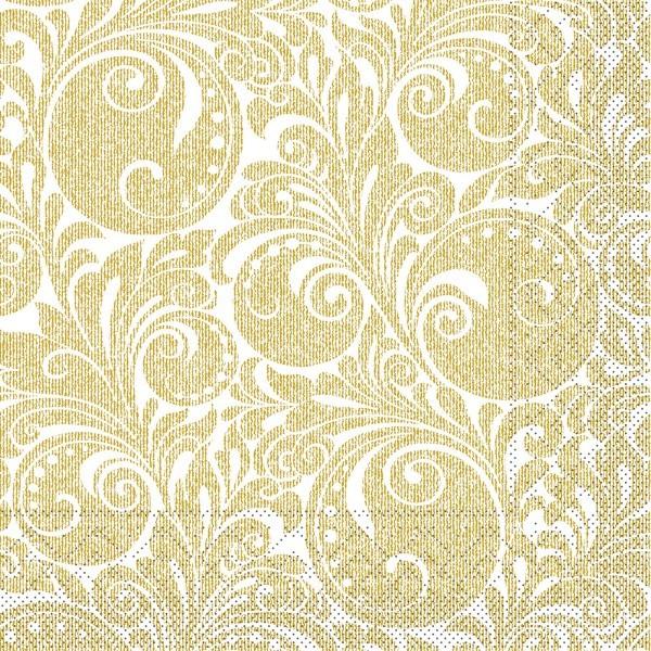 Tissue Serviette Jordan in Gold, 40 x 40 cm, 100 Stück - Mank