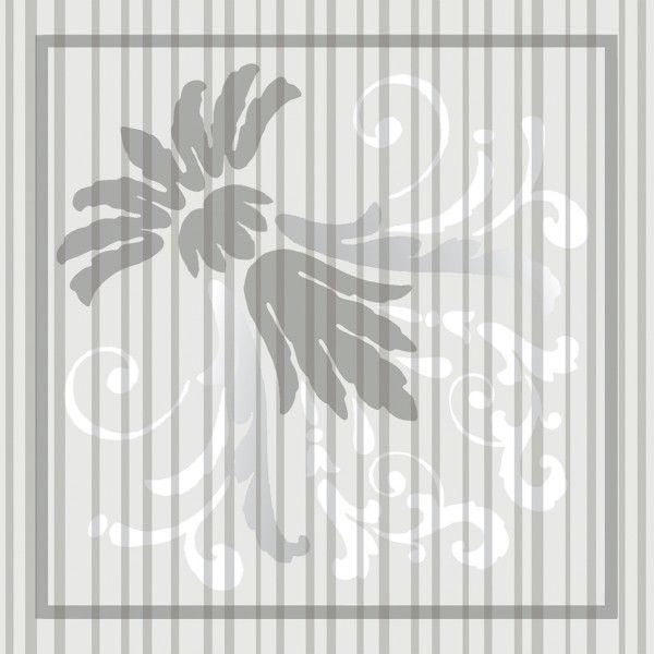 Deckchen Letizia in Grau, Tissue 9-lagig, 90 x 90mm, 250 Stück - Mank