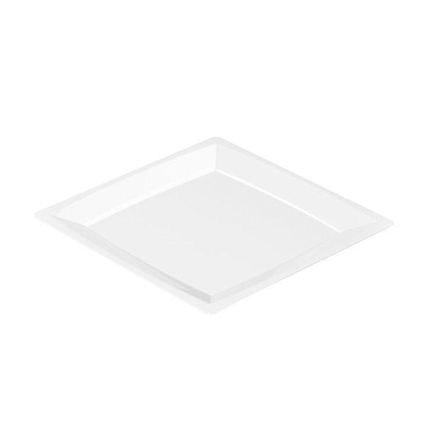 Einweg Teller MILAN Gr. L in Weiss 21 x 21cm aus Plastik, 12 Stück - Mank