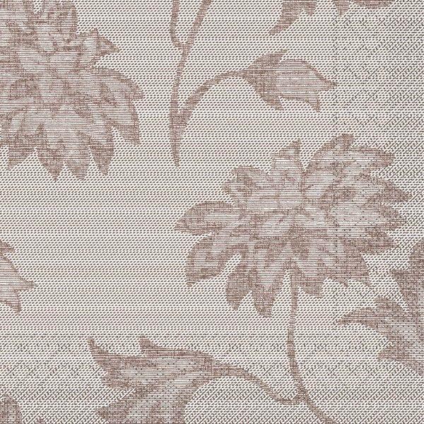 Tissue Serviette Lisboa in Braun, 33 x 33 cm, 100 Stück - Mank