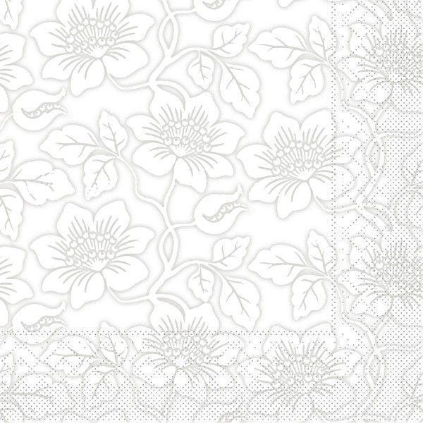 Tissue Serviette Hedda in Grau, 33 x 33 cm, 100 Stück - Mank