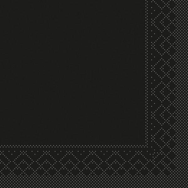 Tissue Serviette Schwarz, 33 x 33 cm, 100 Stück - Mank