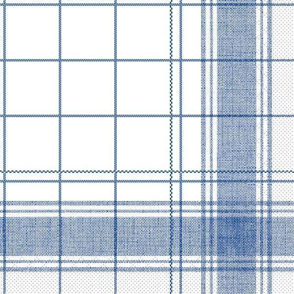 Tissue Serviette Nadeem in Blau, 40x40 cm, 100 Stück - Mank