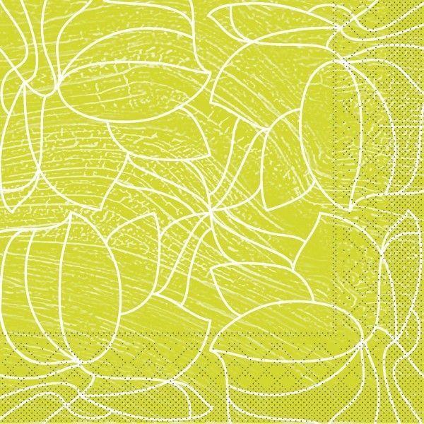 Tissue Serviette Hugo in Hellgrün, 40 x 40 cm, 100 Stück - Mank