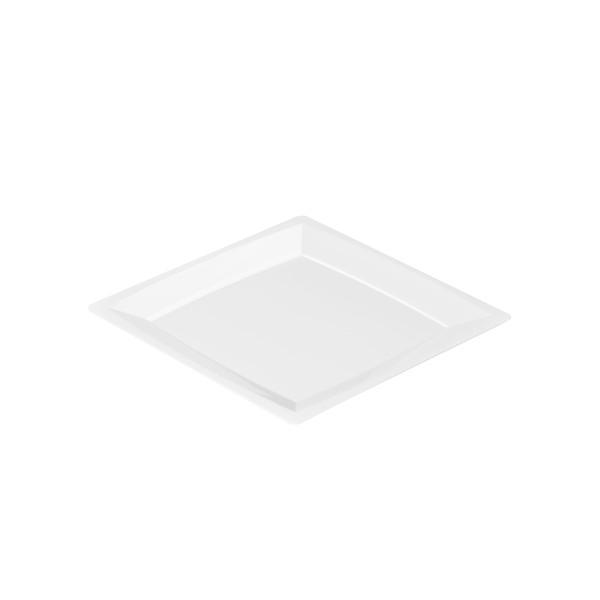Einweg Teller MILAN Gr. S in Weiss 13,6 x 13,6cm aus Plastik, 24 Stück - Mank