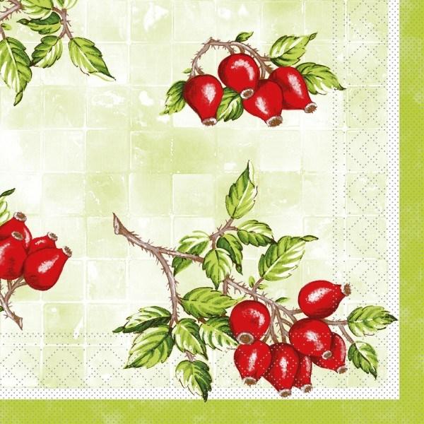 Tissue Serviette Hanne, 40 x 40 cm, 100 Stück - Mank