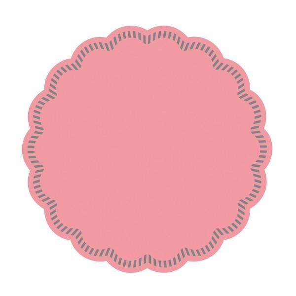 Tissue Deckchen in Rosa, Ø 90 mm, 250 Stück - Mank