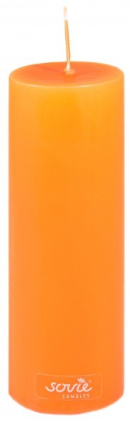 Stumpenkerze Orange, Ø50x150 mm