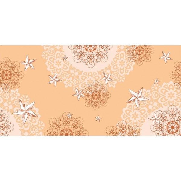 Airlaid Tischläufer Sternenschein in Aprikot-Terrakotta, 40 cm x 24 m, 1 Stück - Mank