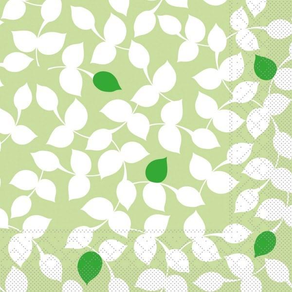 Tissue Serviette Silas in Grün, 33 x 33 cm, 100 Stück - Mank