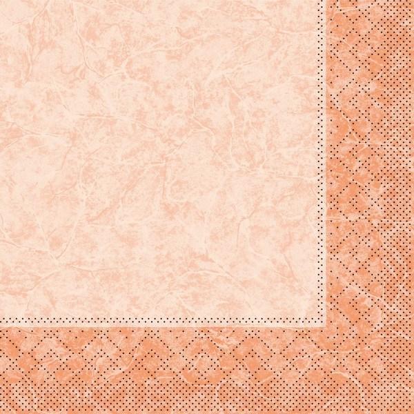Tissue Serviette Craig in Aprikot, 33 x 33 cm, 100 Stück - Mank