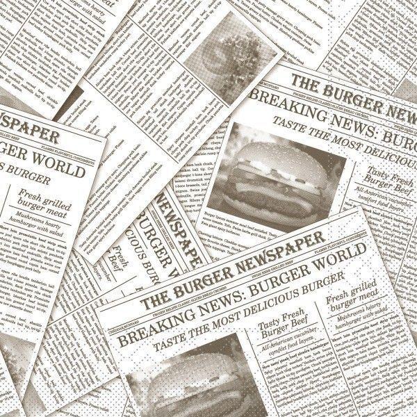 Tissue Serviette Newspaper in Grau 33 x 33 cm, 100 Stück - Mank