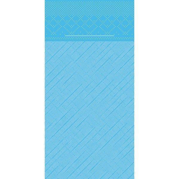 Tissue Deluxe Besteckservietten Aquablau, 40 x 40 cm, 100 Stück - Mank