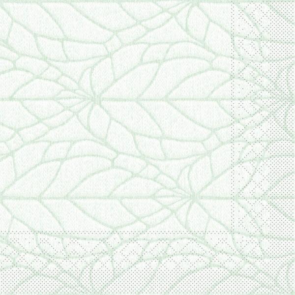 Tissue Serviette Kreta in Pistazie, 40 x 40 cm, 100 Stück - Mank