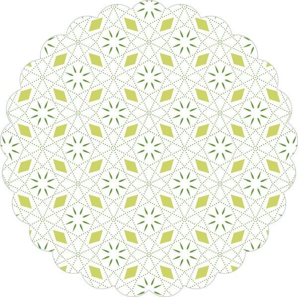 Deckchen Mia in Apfelgrün, Tissue mit Folienbeschichtung, 105 mm, 250 Stück - Mank
