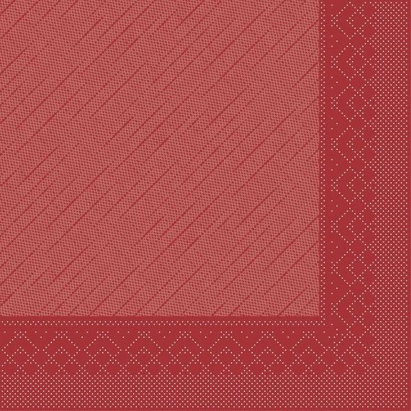 Tissue Deluxe Serviette Bordeaux, 40 x 40 cm, 50 Stück - Mank