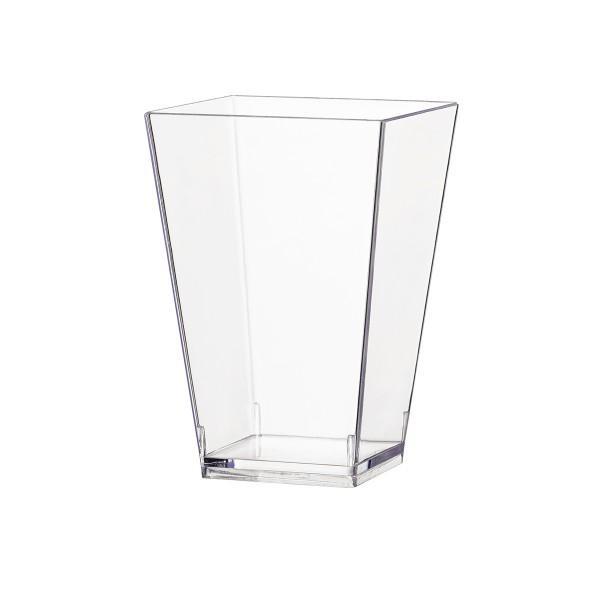 Einweg Fingerfood Glas 100ml aus Plastik, Transparent, 40 Stück - Mank