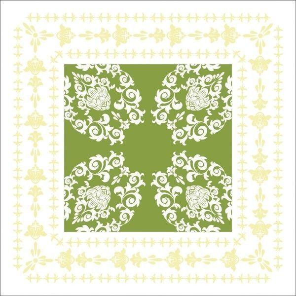 Deckchen Pascal in Lindgrün, Tissue 9-lagig, 90 x 90mm, 250 Stück - Mank