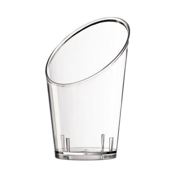 Einweg Fingerfood Glas 60ml aus Plastik, konisch, Transparent, 40 Stück - Mank
