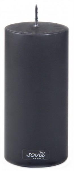 Stumpenkerze Schwarz, Ø70x200 mm