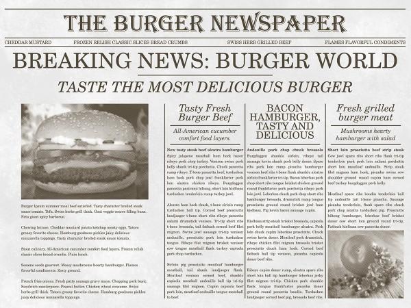 Papier Tischset Newspaper in Grau, 40 x 30 cm, 500 Stück - Mank
